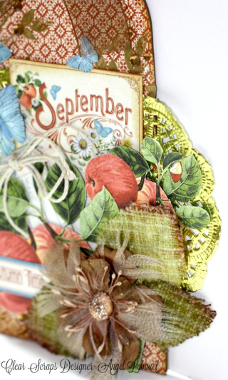 Clear Scrap September Tag Angel Lebouef close Up 1