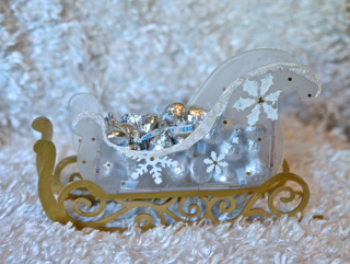 Clear Scraps Snowflake Sled by Pinky Hobbs1