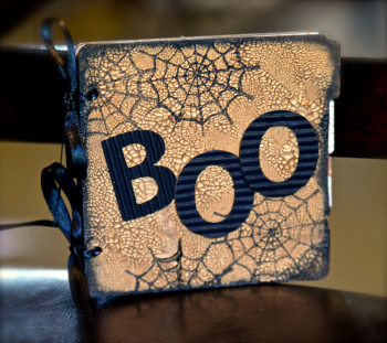 BOO Crackle Mini Album by Pinky Hobbs Creating Made Easy October Kit8