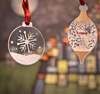 Clear Scraps Ornaments by Pinky Hobbs Sharpie Paint Pen - 2
