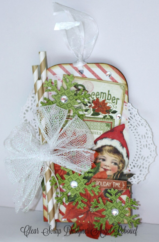 Clear Scraps December Tag Angel