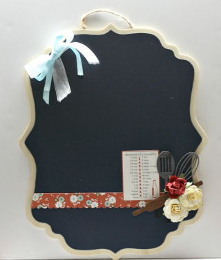 Utensil Chipboard Pieces Chalkboard-Angel