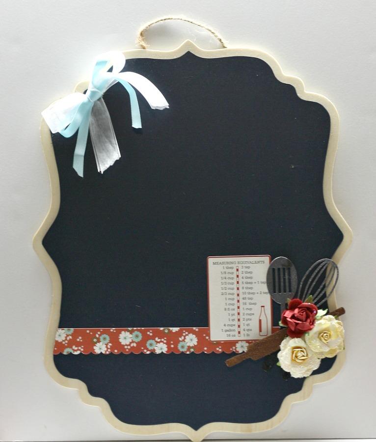 Utensil Chipboard Pieces Chalkboard-Angel