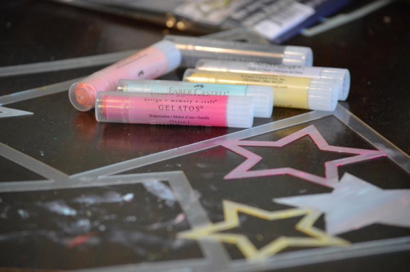 Clear Scraps Acrylic Layout Stars Hello Kitty Pinky Hobbs - 1