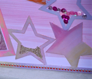 Clear Scraps Acrylic Layout Stars Hello Kitty Pinky Hobbs - 4