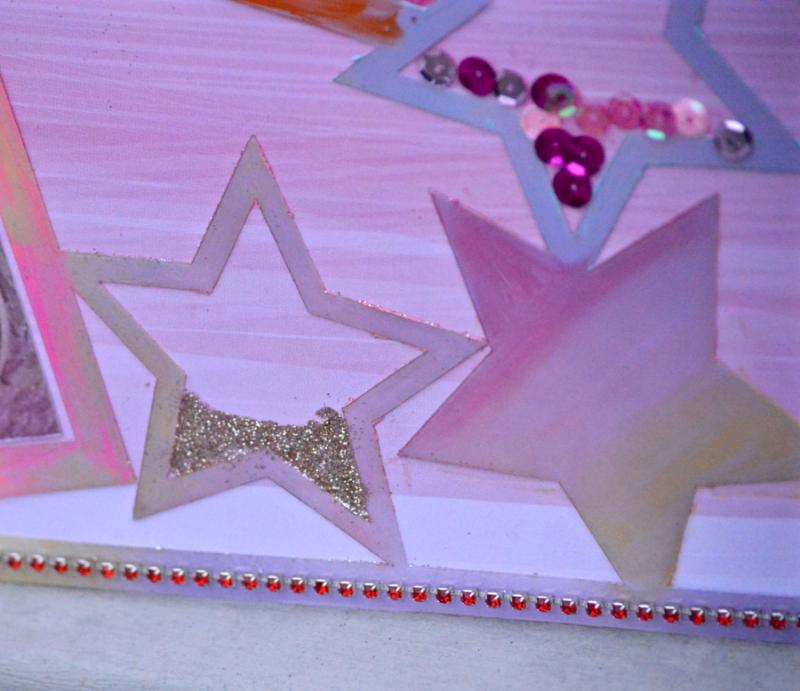 Clear Scraps Acrylic Layout Stars Hello Kitty Pinky Hobbs - 4