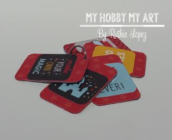 Acrylic tag  Cleear Scraps Kit  Ruthie Lopez. 5