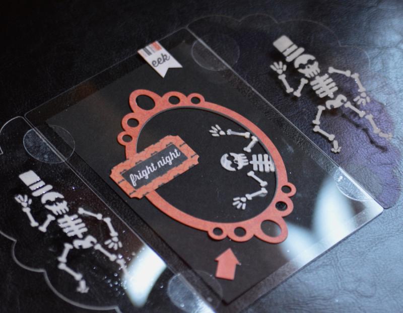 Clear Scraps Skull Stencil Send It Clear Card Pinky Hobbs - 4