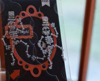 Clear Scraps Skull Stencil Send It Clear Card Pinky Hobbs - 2