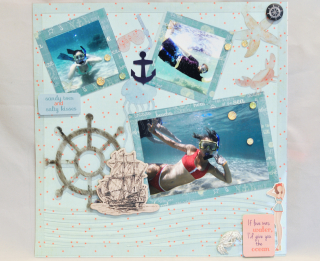 Sandy toes_clear scraps_nancy keslin_acrylic layout