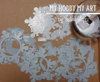 Snowflake ornament  Clear Scraps Kit  Ruthie Lopez 2