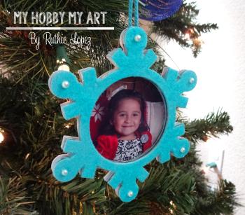 Snowflake ornament  Clear Scraps Kit  Ruthie Lopez 6