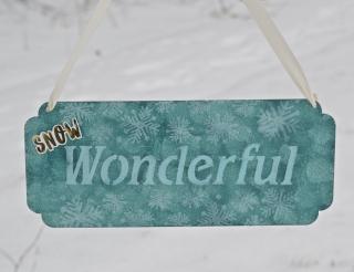 Clear Scraps Snow Wonderful Stenciled  - 2