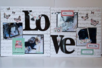 Creating Made Easy February Kit 2 Page LOVE Layout - 5