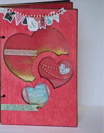 Creating Made Easy February Kit Wood Shaker Album - 3
