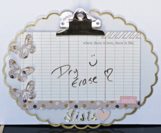 Clear Scraps Dry Erase Clipboard by Pinky  - 1