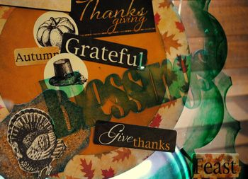 Thanksgiving centerpiece-hanging sculpture detail 1