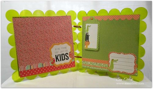 Clear Scraps Kaisercraft Scalloped Album pages 3 and 4