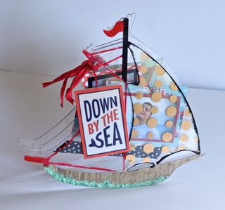 Clear Scraps Sailboat Mini Album Pinky Hobbs1