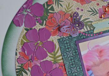 August Creating Made Easy Kit Acrylic Circle Layout Pinky Hobbs Mixed Media5