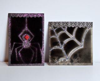 Halloween Spider Acrylic Cards Spray Paint Pinky Hobbs1