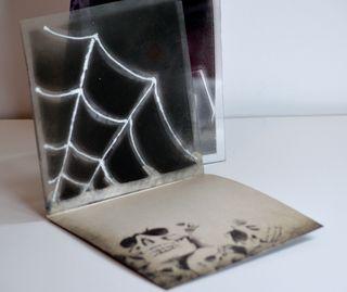 Halloween Spider Acrylic Cards Spray Paint Pinky Hobbs7