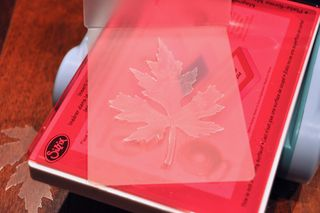 Leaf wreath_sizzix_emboss
