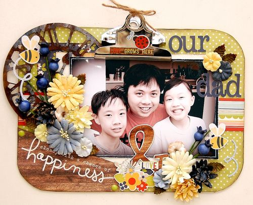 Our Dad Altered Clipboard by Irene Tan 01