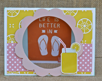 Flip Flop Scalloped Frame Card by Pinky Hobbs for Creating Made Easy July Kit1