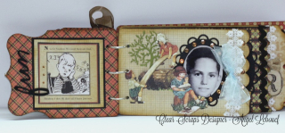 Clear Scraps-chipboard album-Angel Lebouef 3