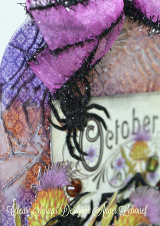 October Tag-clear scraps Angel