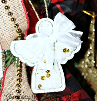 ClearScrap Angel ornament Shaker-Angel