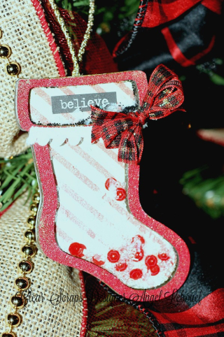 Clear Scraps Ornament Stocking-Angel