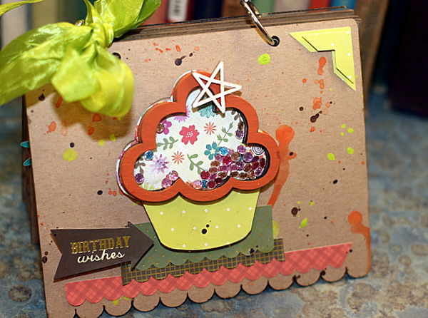 Cupcake shaker_clear scraps_mini album_c. mercer