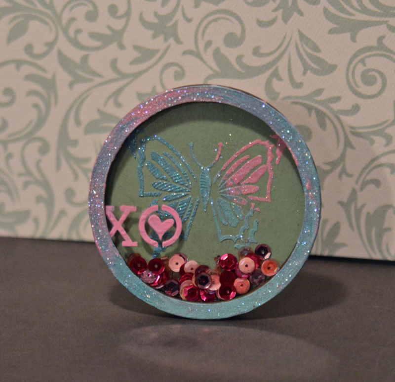 Clear Scraps Butterfly Stencil Modeling Paste Shaker Pinky Hobbs - 7