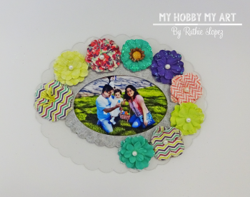 Clear Scraps, Clear acrylic frame, Ruthie Lopez 3