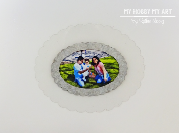 Clear Scraps, Clear acrylic frame, Ruthie Lopez 2