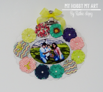 Clear Scraps, Clear acrylic frame, Ruthie Lopez 4