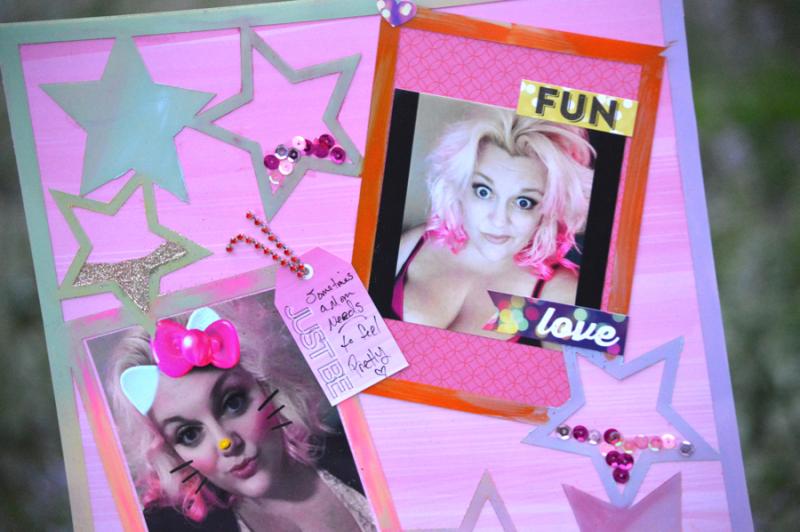 Clear Scraps Acrylic Layout Stars Hello Kitty Pinky Hobbs - 3