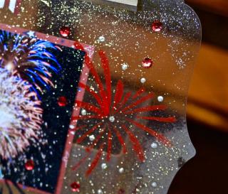 ClearScraps  Acrylic Clipboard Fireworks Pinky Hobbs - 2
