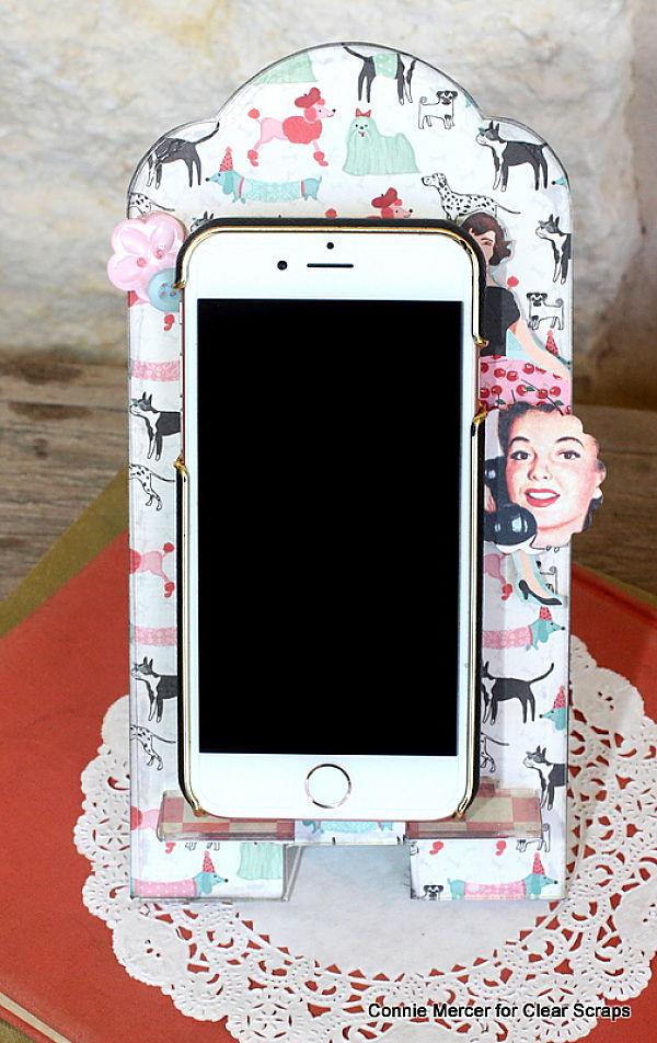 Clear scraps_phone stand2_c. mercer