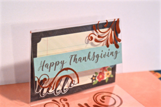 Clear Scraps Thanksgiving Send It Clear Card Pinky - 3