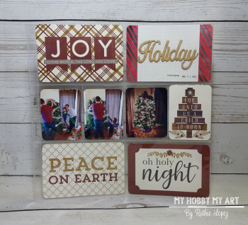 Clear Scraps kit  Shaker Card  December Kit  Project Life  Ruthie Lopez  My Hobby My Art