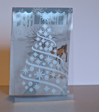 Clear Scraps Tree Stencil Christmas Card by Pinky Hobbs - 2