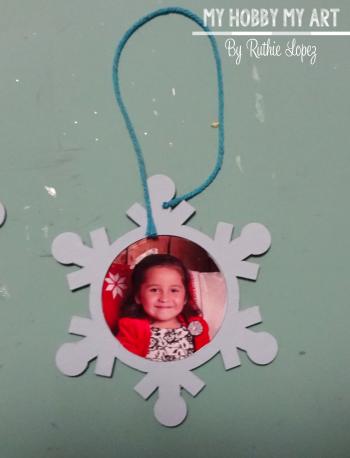 Snowflake ornament  Clear Scraps Kit  Ruthie Lopez 5
