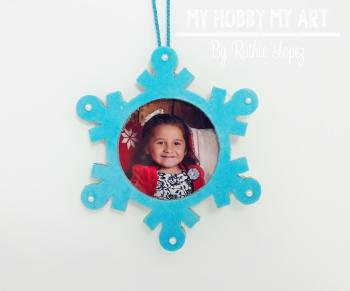 Snowflake ornament  Clear Scraps Kit  Ruthie Lopez 8