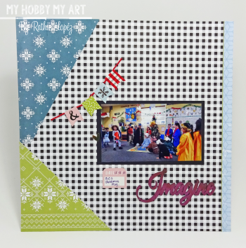 Layout  Clear Scraps Kit  Ruthie Lopez