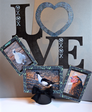Clear Scraps Wood LOVE by Pinky Hobbs - 2