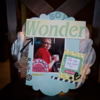Clear Scraps Boy Wonder Layout by Pinky Hobbs - 3