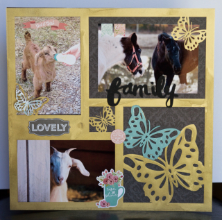 Clear Scraps Acrylic Layout by Pinky Butterflies - 1